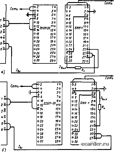 Схема соединений блока ЕИК-1 с