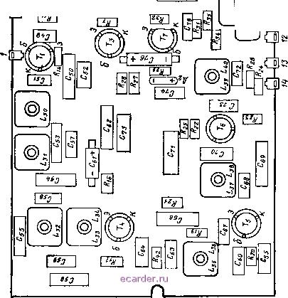 Схема расположения узлов и