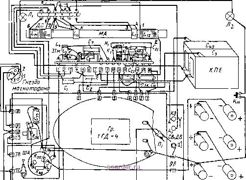 схема приемника ВЭФ-12 и